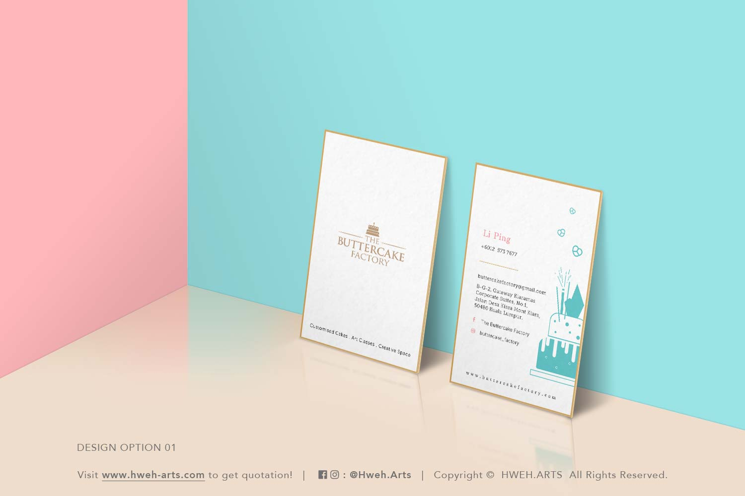 [ Print ] Name Card Design For The Buttercake Factory   Hweh Arts