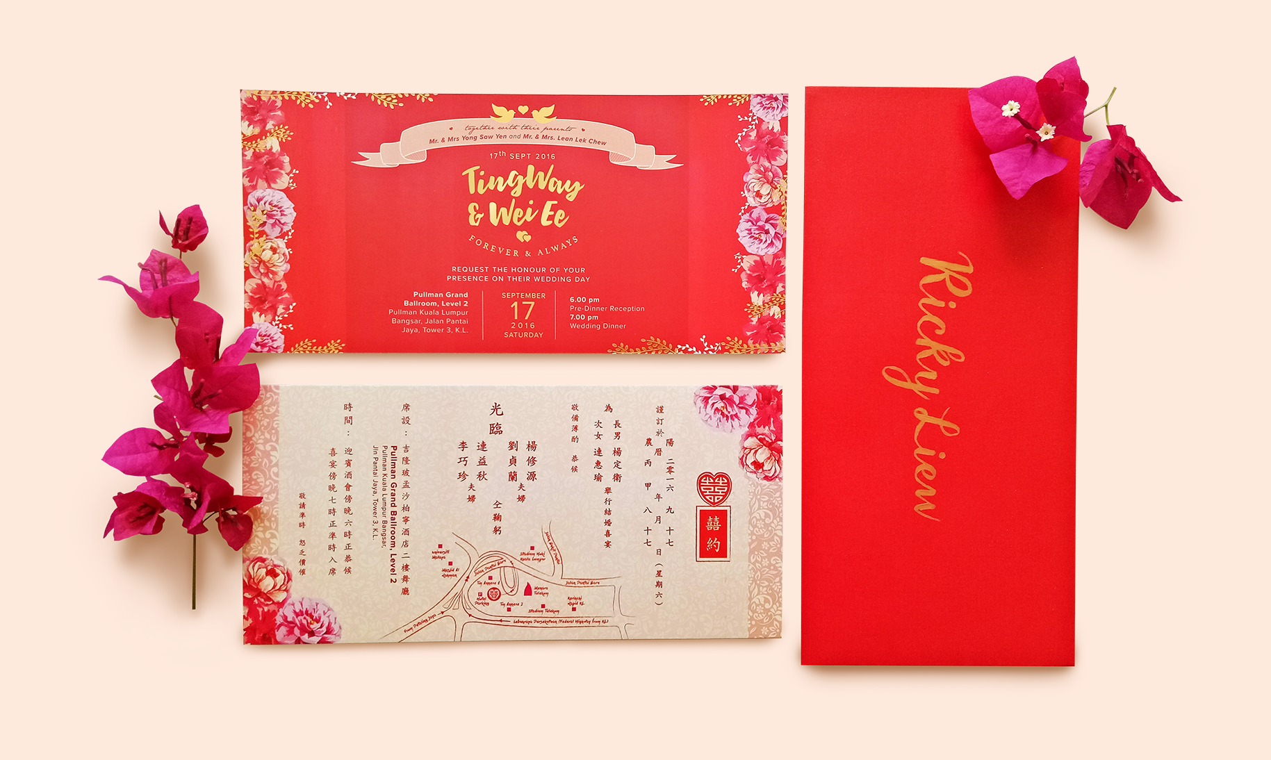 Print ] TW Wedding Invitation Card Design - Hweh Arts