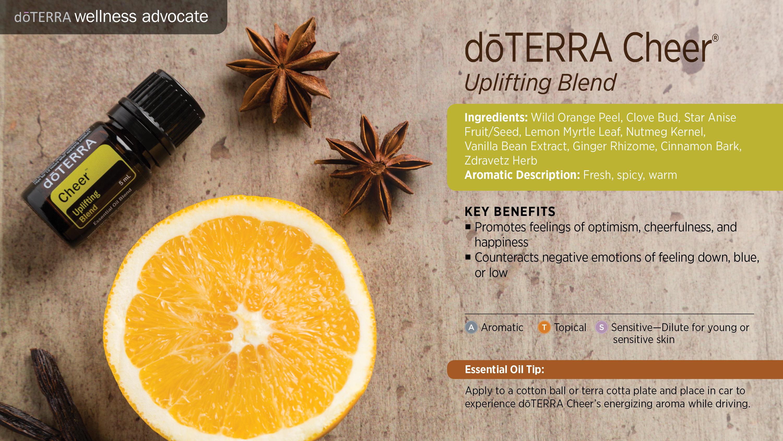 Doterra Cheer Uplifting Blend Doterra Essential Oils