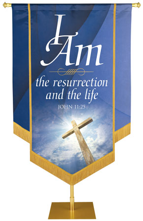 I am the Resurrection Banner from the I Am Collection