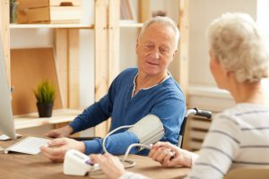 Senior blood pressure remote patient monitoring