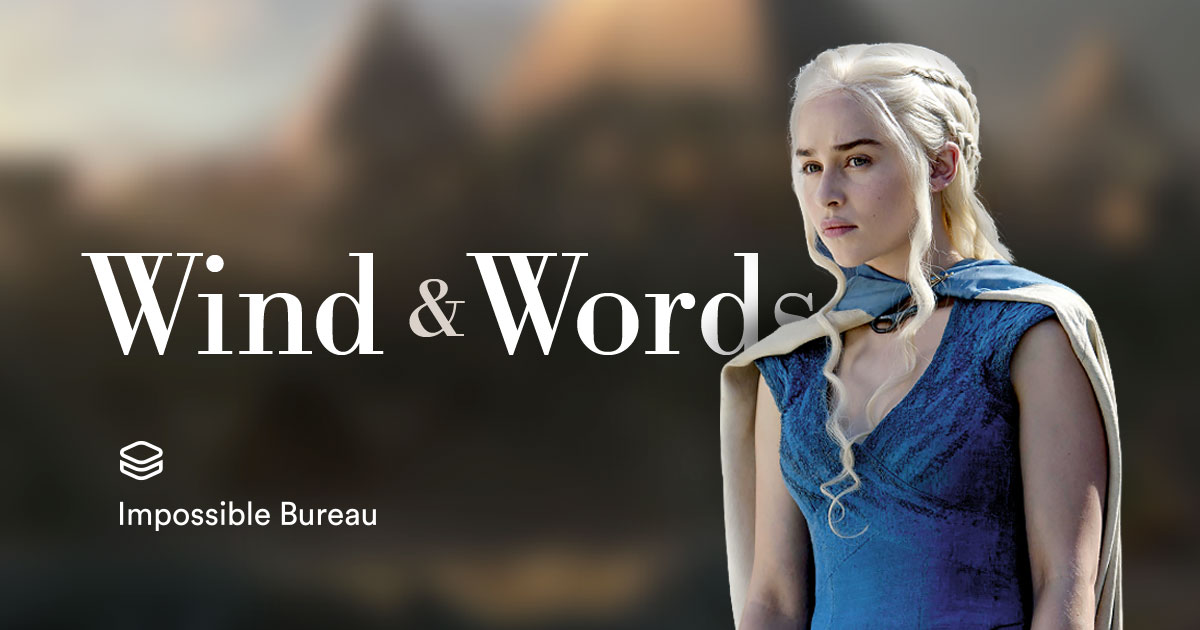 Wind and Words: an interactive Game of Thrones data visualization