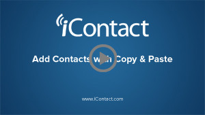 Add a Contact with Copy & Paste
