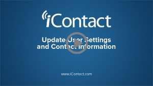 Update User Settings and Contact Information