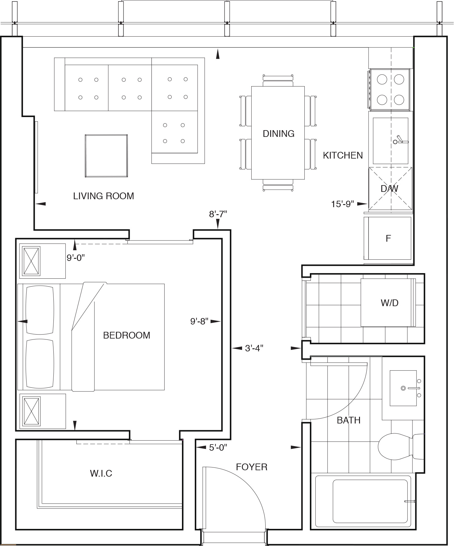 Floorplan for SKY Residence E