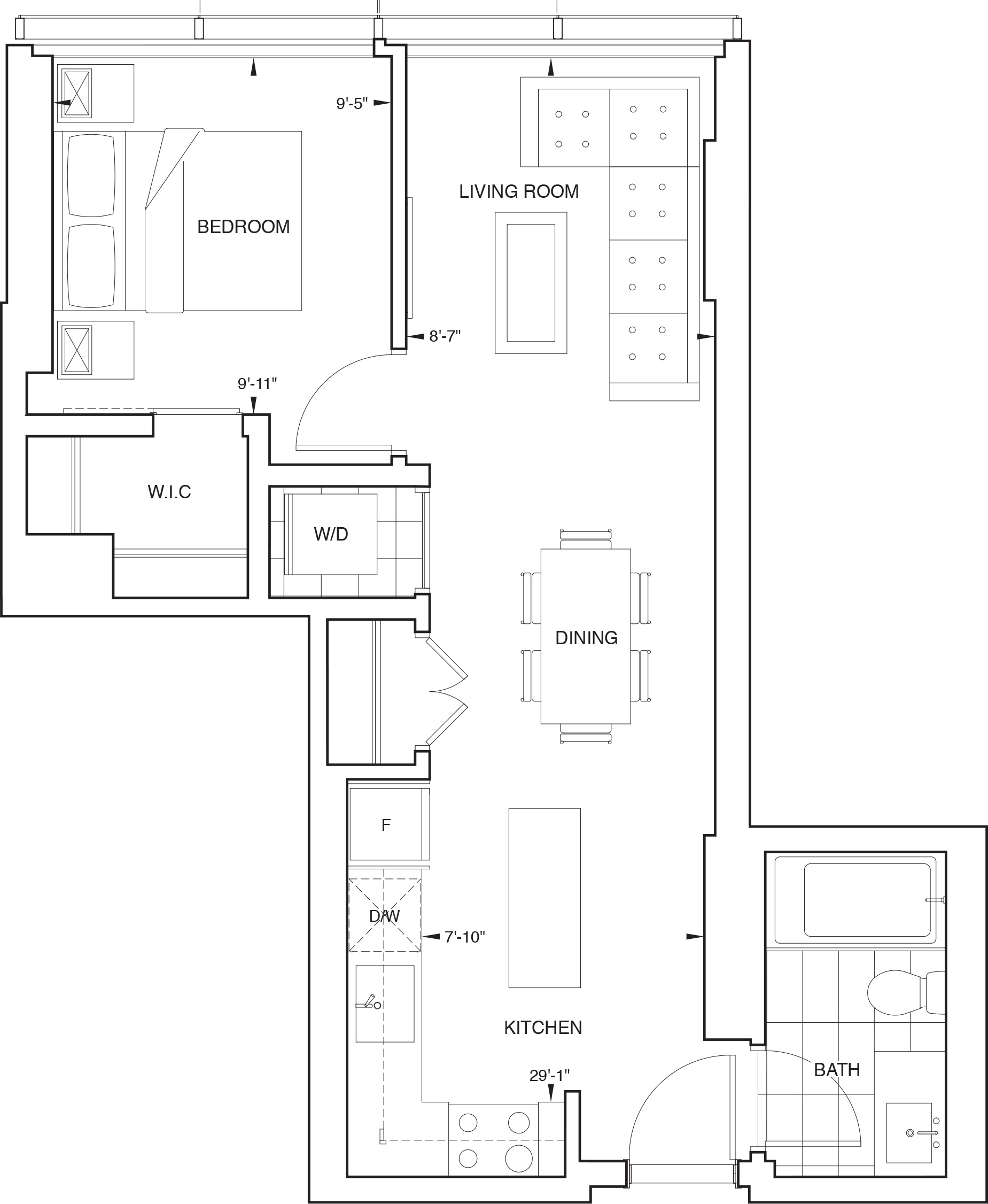 Floorplan for SKY Residence F