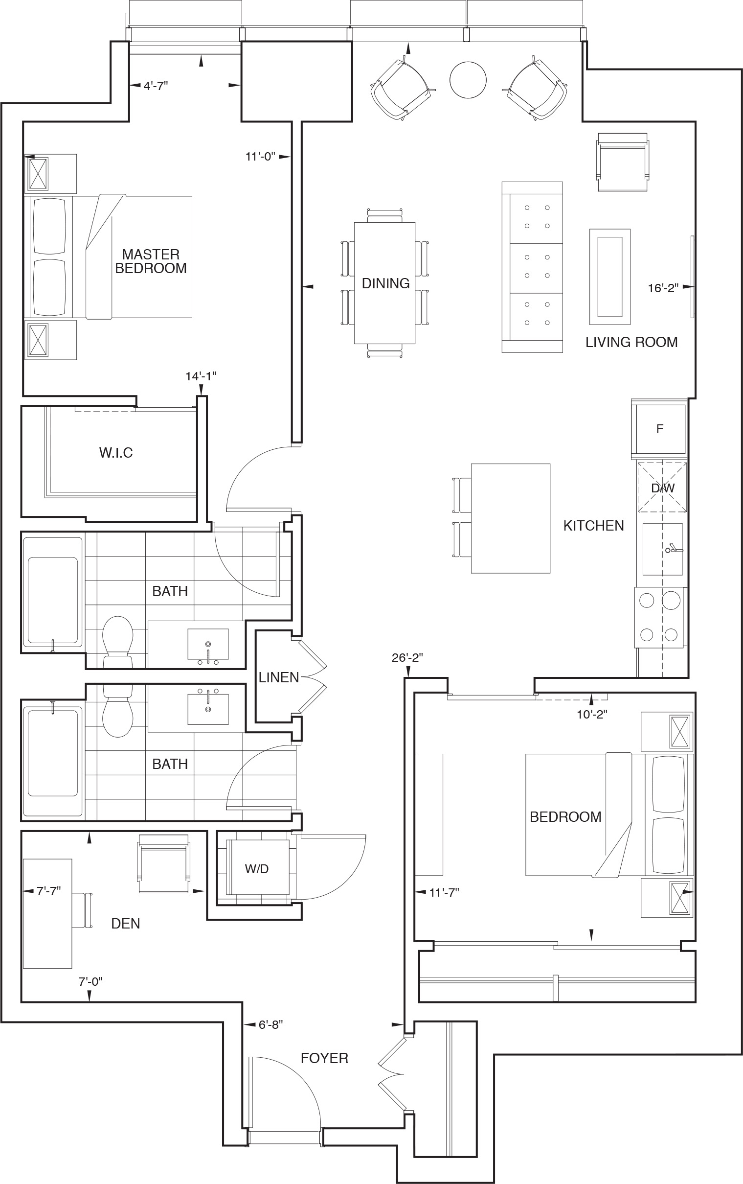 Floorplan for SKY Residence H