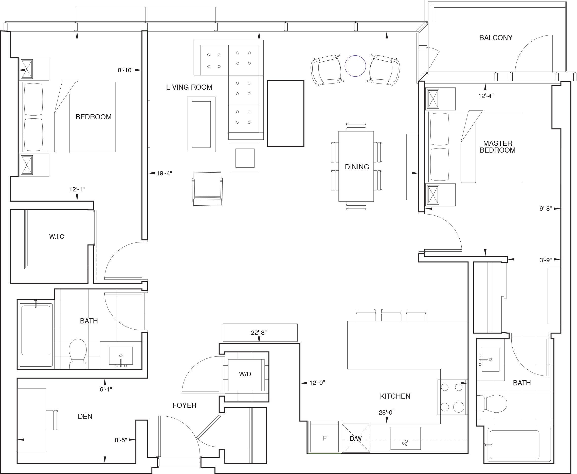 Floorplan for SKY Residence J
