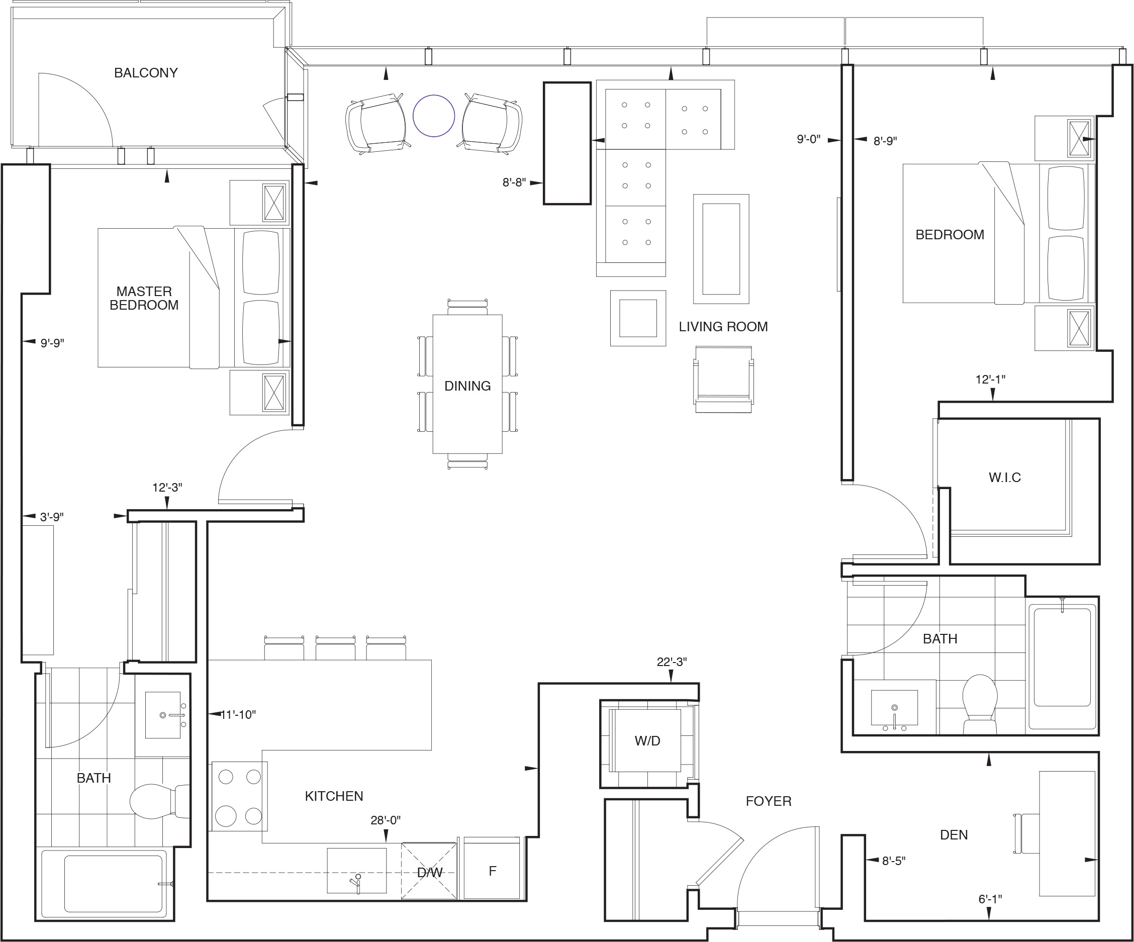 Floorplan for SKY Residence J1