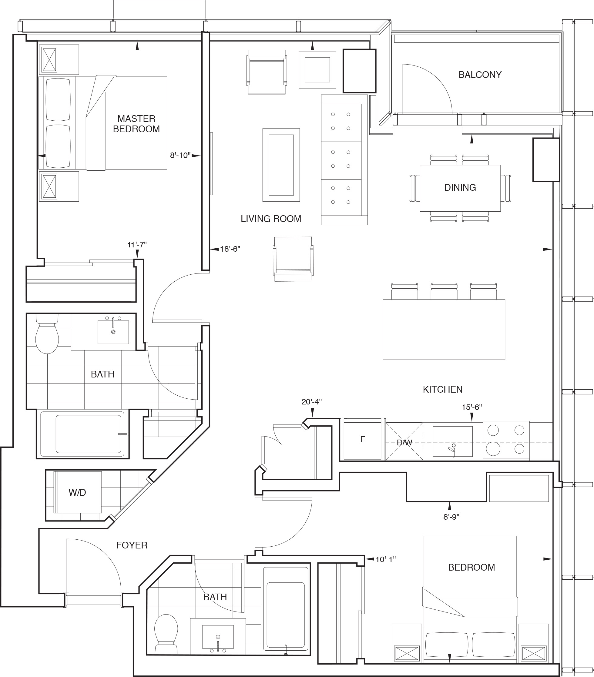 Floorplan for SKY Residence K
