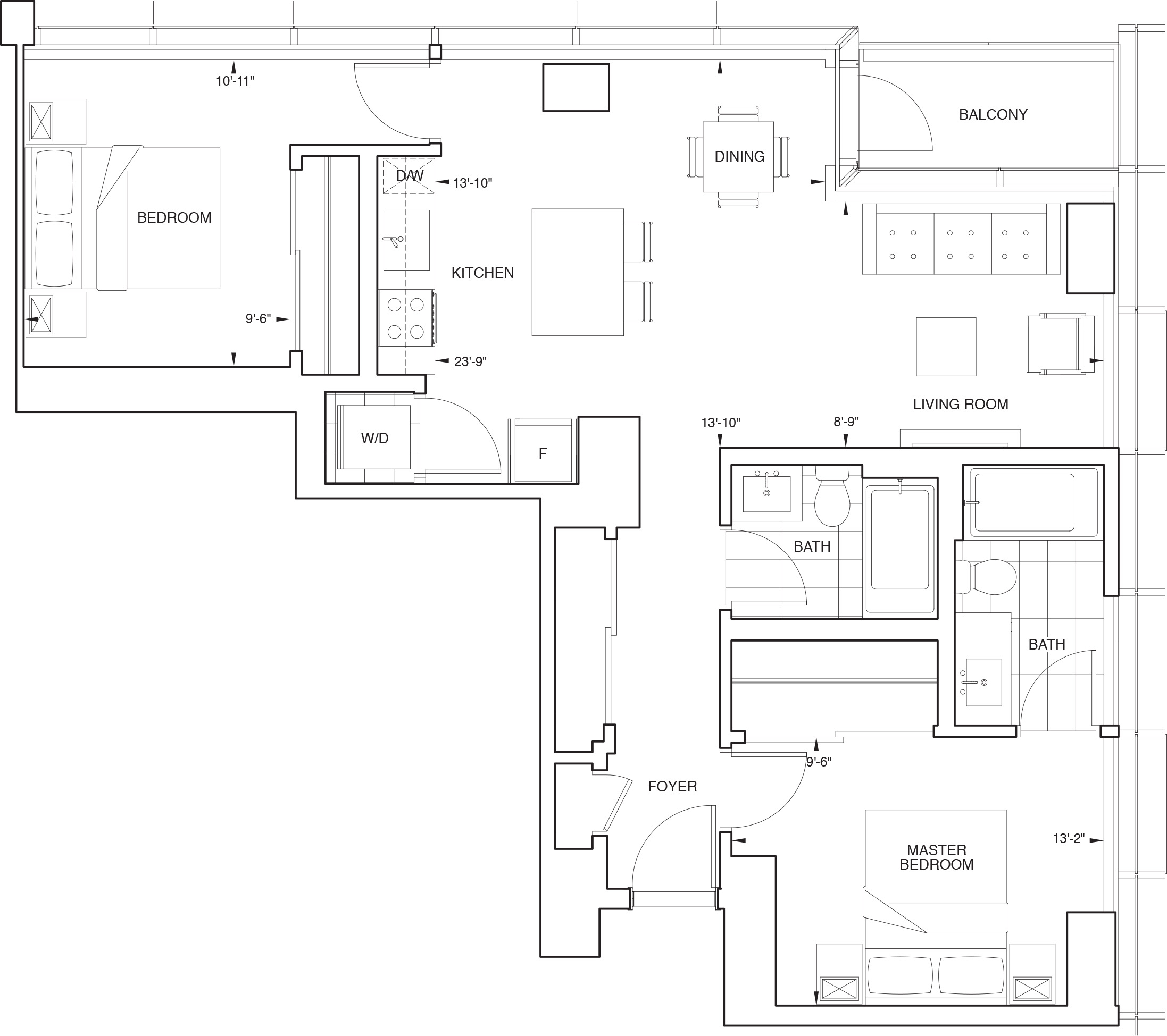 Floorplan for SKY Residence A