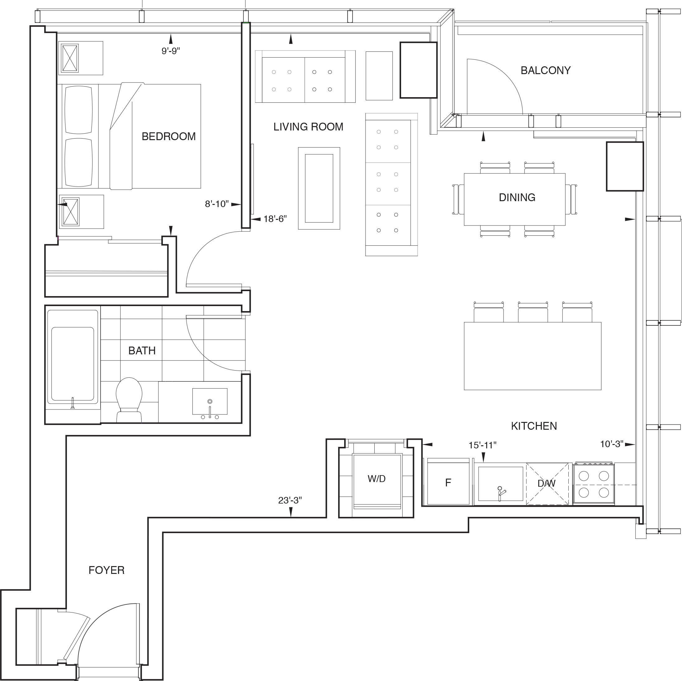 Floorplan for SKY Residence D