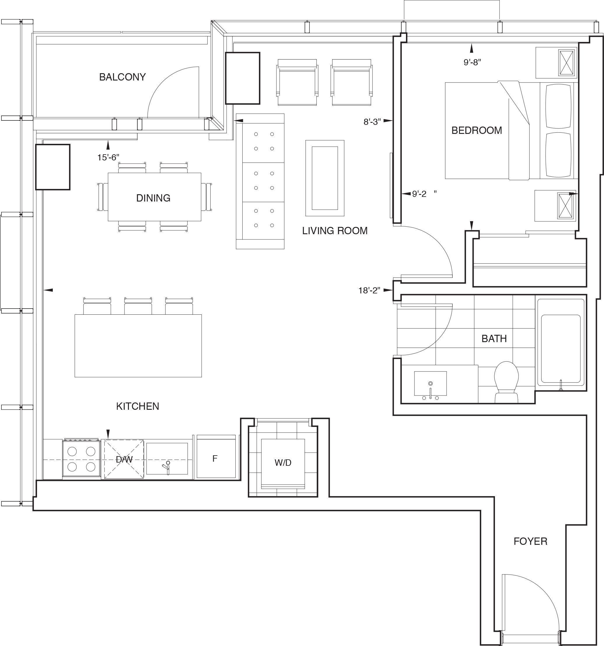 Floorplan for SKY Residence D1