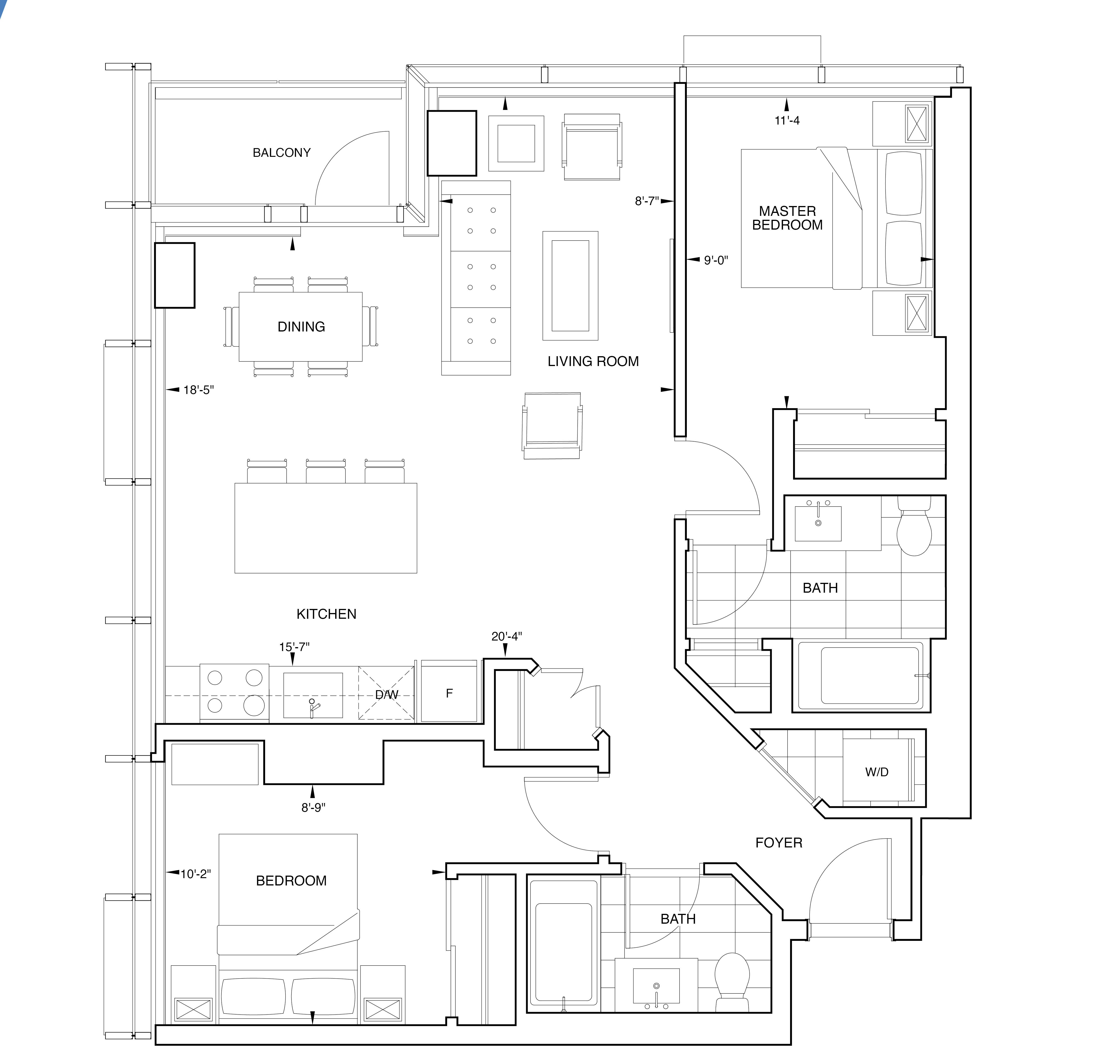 Floorplan for SKY Residence K1
