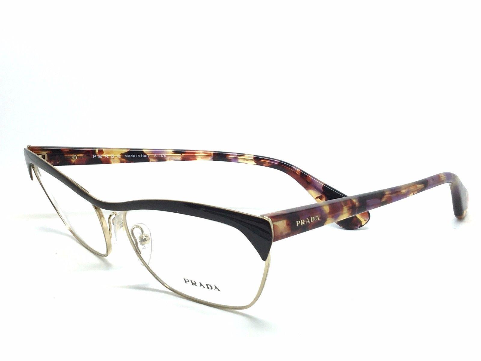 Prada Green Eyeglass Frames : New PRADA VPR57Q PR57QV QE6-1O1 Authentic Eyeglasses Frame