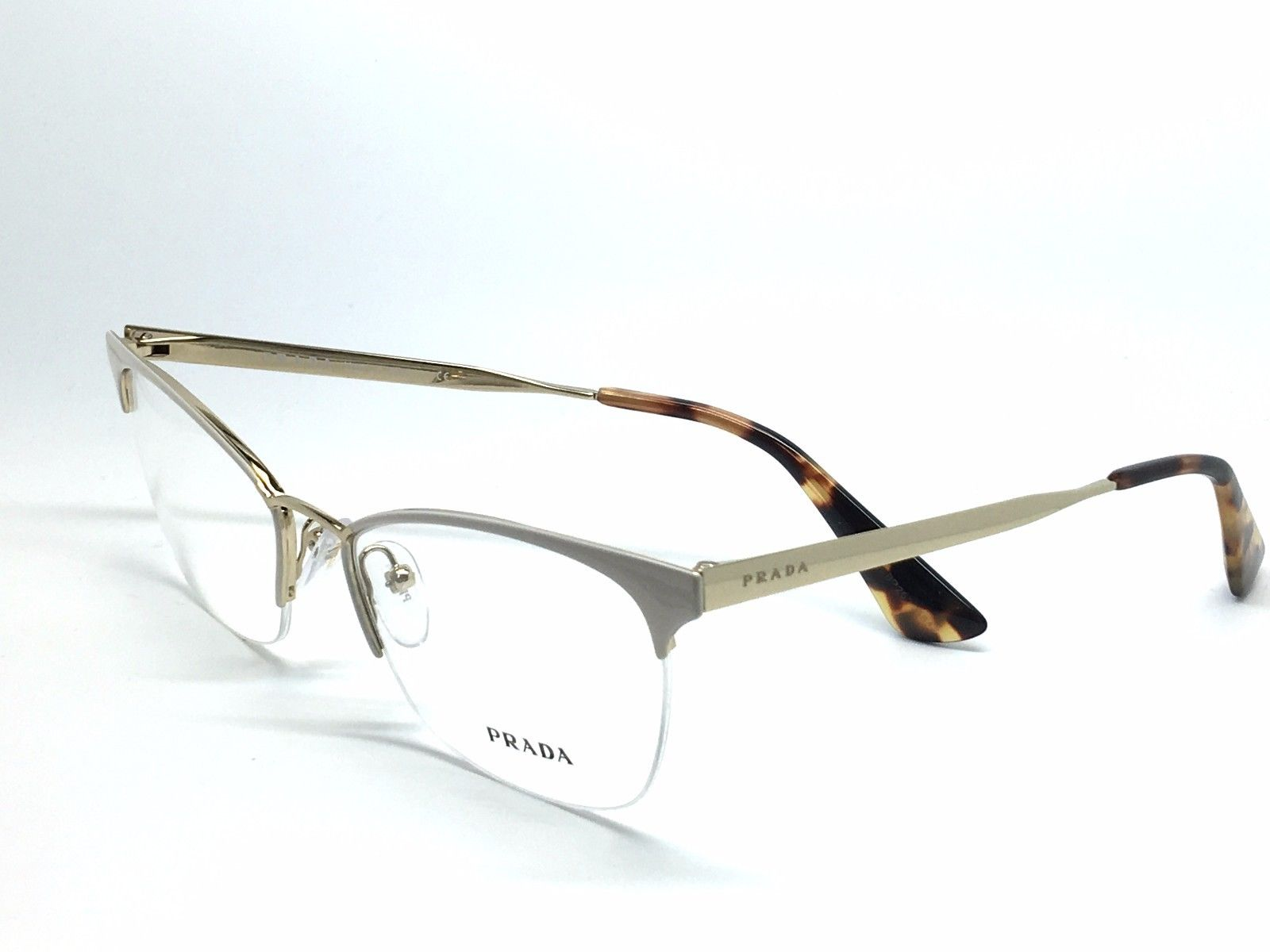 New PRADA VPR65Q PR65QV ROJ-1O1 Authentic Eyeglasses Frame