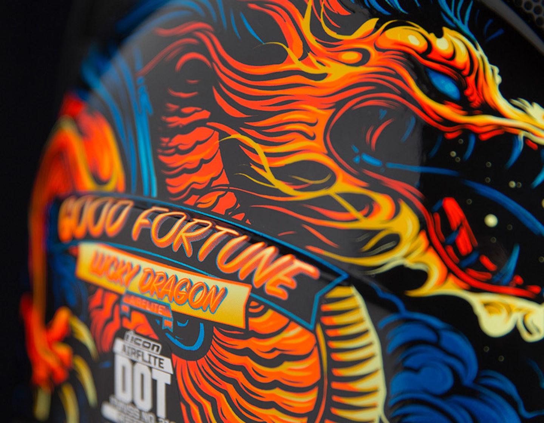 Good Fortune - Blue | Helmets | Icon Motosports - Ride Among Us