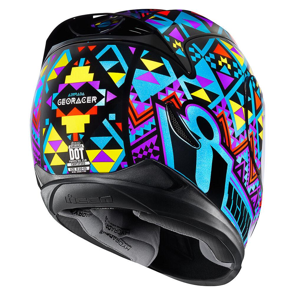 Georacer Blue Helmets Icon Motosports Ride Among Us
