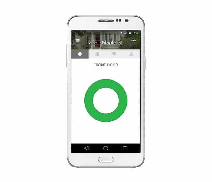 August Home smart lock mobile app