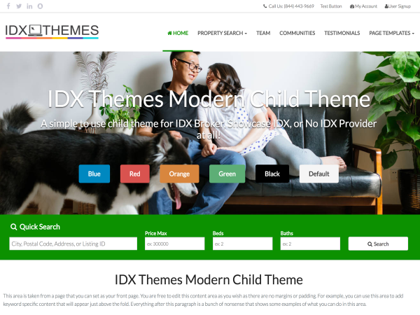 Complete IDX Website