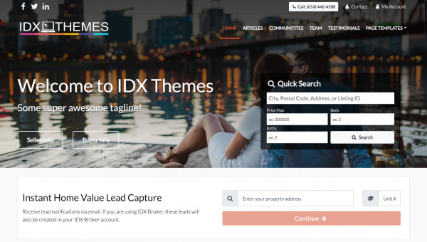 Hosted Advanced IDX Website