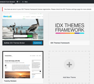 Installing and Activating the IDX Themes Framework