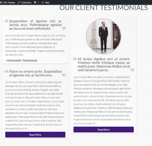 IDX Themes Framework Client Testimonials