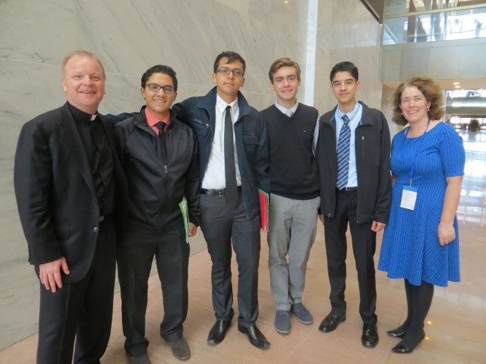 Marquette University High School faculty and students