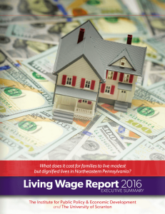 Living Wage Report 2016