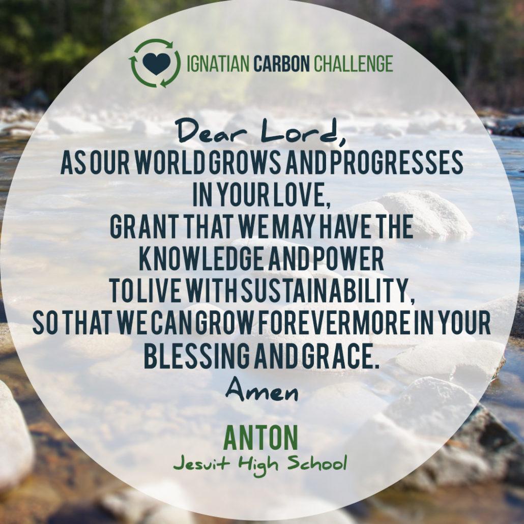 Ignatian Carbon Challenge Prayers | Ignatian Solidarity Network
