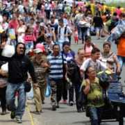 Venezuela migrants departing
