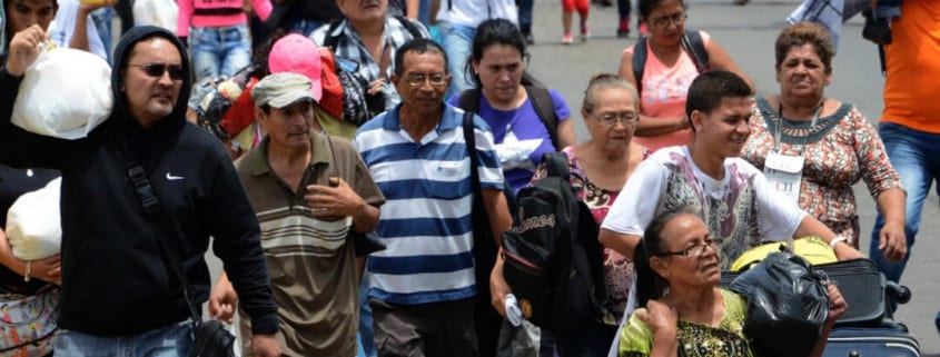 Venezuela migrants departing