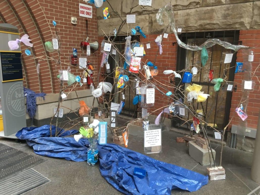saint ignatius high school trash tree