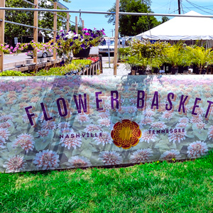 Fence Banner for Busines Flower Shop