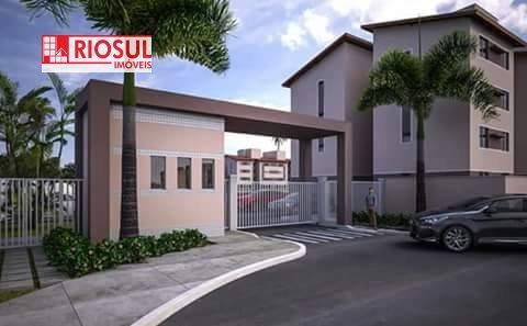 Apartamento a Venda e para Alugar no bairro João Paulo II em Imperatriz - MA. 1 banheiro, 2 dormitórios, 1 vaga na garagem,  área de serviço,  copa,
