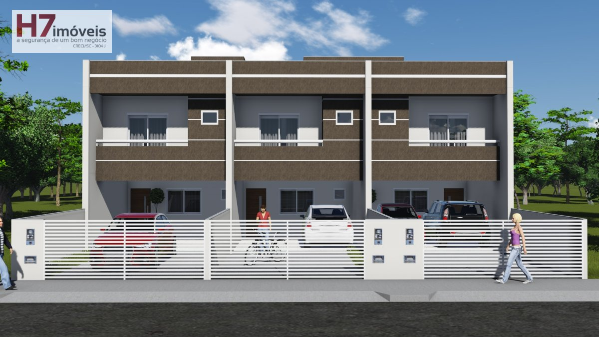 Casa a Venda no bairro Vila Nova em Joinville - SC. 1 banheiro, 3 dormitórios, 1 suíte, 2 vagas na garagem, 1 cozinha,  área de serviço,  lavabo.