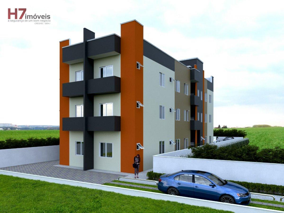 Apartamento a Venda no bairro Aventureiro em Joinville - SC. 1 banheiro, 2 dormitórios, 1 vaga na garagem, 1 cozinha,  área de serviço,  sala de janta
