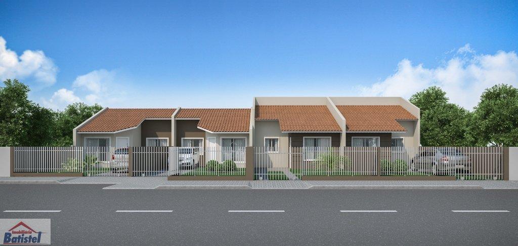 Casa a Venda no bairro Jardim Céu Azul em Campo Largo - PR. 1 banheiro, 3 dormitórios, 1 suíte, 2 vagas na garagem, 1 cozinha,  área de serviço.  - CA