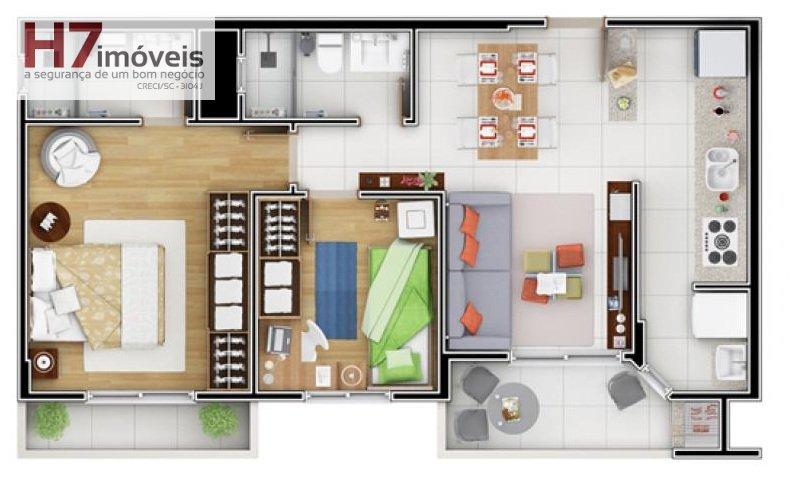 Apartamento para Alugar no bairro Glória em Joinville - SC. 1 banheiro, 2 dormitórios, 1 suíte, 1 vaga na garagem, 1 cozinha.