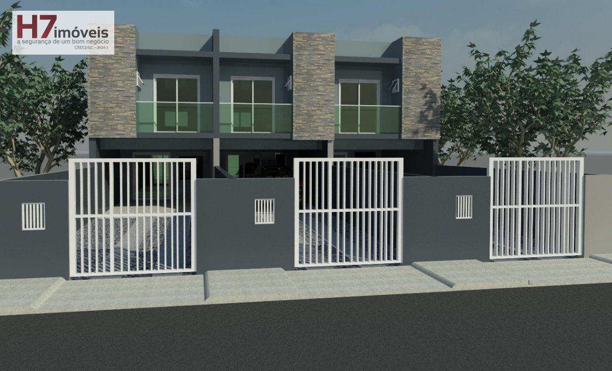 Casa a Venda no bairro Aventureiro em Joinville - SC. 1 banheiro, 3 dormitórios, 1 suíte, 2 vagas na garagem, 1 cozinha,  área de serviço,  lavabo,  s