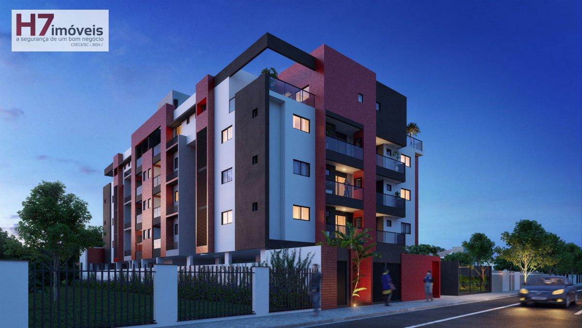 Apartamento a Venda no bairro Bom Retiro em Joinville - SC. 1 banheiro, 2 dormitórios, 1 suíte, 1 vaga na garagem, 1 cozinha,  área de serviço,  lavab