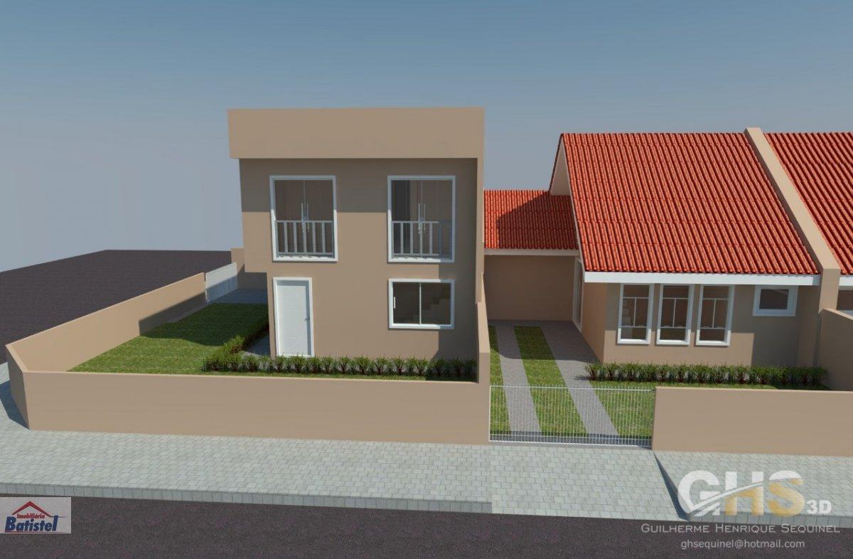 Sobrado a Venda no bairro Vila Itaqui em Campo Largo - PR. 1 banheiro, 3 dormitórios, 1 suíte, 1 vaga na garagem, 1 cozinha.  - SO0014