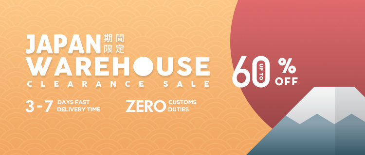 Japan Warehouse Clearance, Up to 60% off