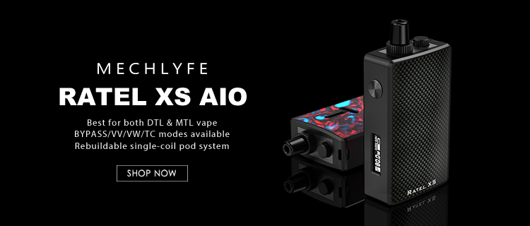 80W Mechlyfe Ratel XS AIO TC Rebuildable Pod System Kit