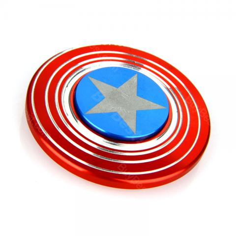cheap Captain America's Shield Fidget Spinner EDC Stress Relief Toy