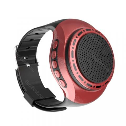 cheap U6 Watch Bluetooth Speaker/Wearable/Hands-Free Calls/Self-timer, Red
