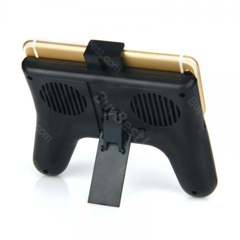 cheap Universal Phone Holder with Game Handle and Radiator  - Black