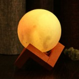 G&T 3D Printed Moon Light for Home Christmas Decoration - White 180mm-1