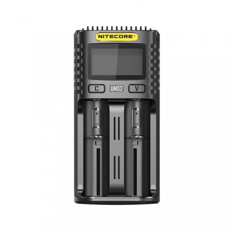 Nitecore UMS2 2-slot Quick Charger with LCD Screen