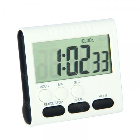 cheap Multi-function Kitchen Timer with LCD Screen, White